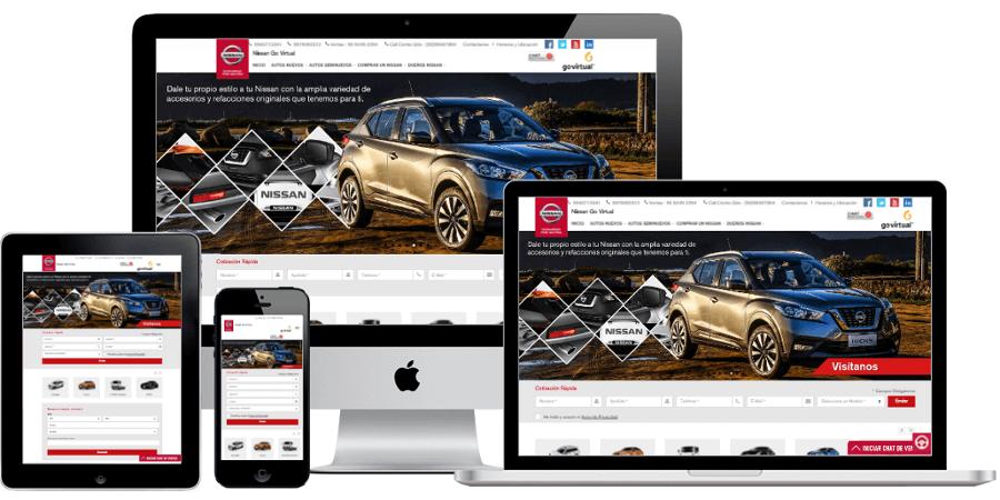 Sitios web responsivos para distribuidores de autos