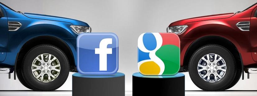 ¿Qué es mejor para mi publicidad automotriz: Google o Facebook?
